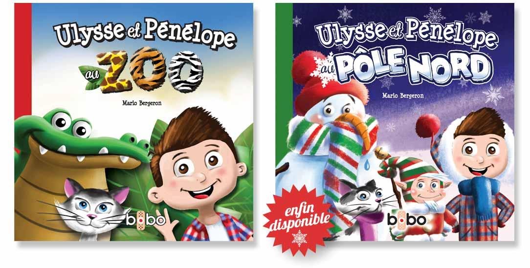 Ulysse et Pénélope les livres pour enfants, Ulysse et Pénélope au zoo, Ulysse et Pénélope au pôle Nord